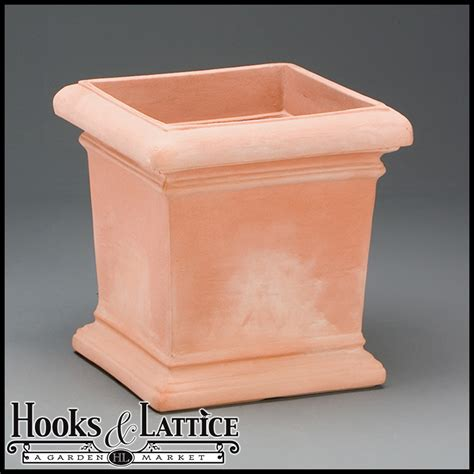 Square Terracotta Planters by Faux Square Terracotta Pots Outdoor Resin Planter Hooks