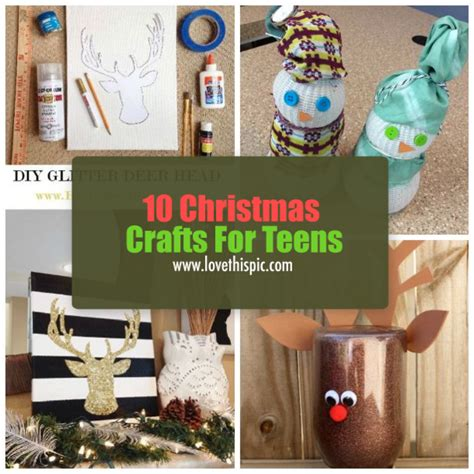 homemade christmas crafts for teens www pixshark com