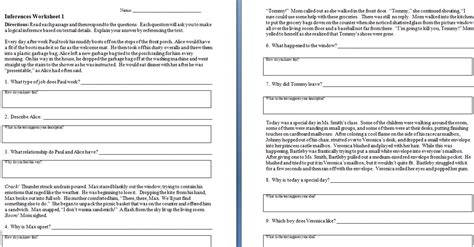 inferences worksheet homeschooldressage