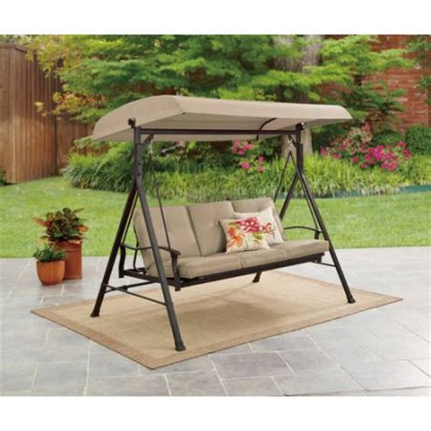 3 person porch swing mainstays belden park 3 person porch swing walmart com