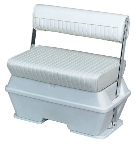 swing back boat seats offshore swingback 50 quart cooler seat white wise