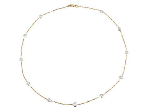 Diamant Halskette diamant halskette weissgold gelbgold