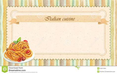 italian card template italian cuisine restaurant menu card design in vintage