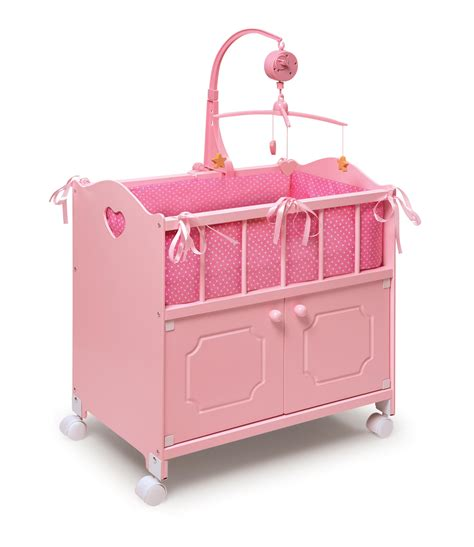 Doll Crib by Badger Basket Pink Doll Crib With Set By Oj Commerce