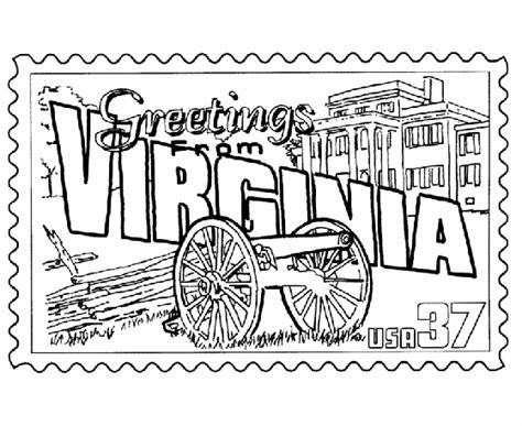 printable coloring pages virina usa printables virginia state st us states coloring