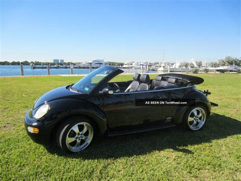 beetle volkswagen black 2005 volkswagen beetle gls convertible black on black