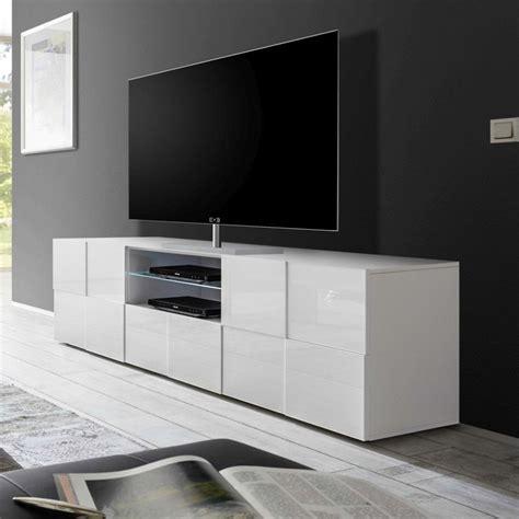 Meuble Tv Laque Blanc Brillant meuble tv blanc laqu 233 brillant sofamobili