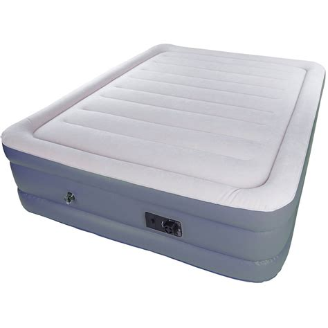 air bed in walmart stansport double high air bed with built in pump 383 b h photo