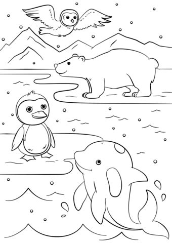 free winter coloring pages winter animals coloring page free printable coloring pages