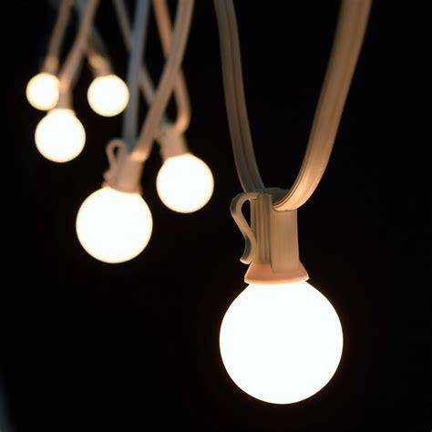 25 white commercial candelabra base light strand