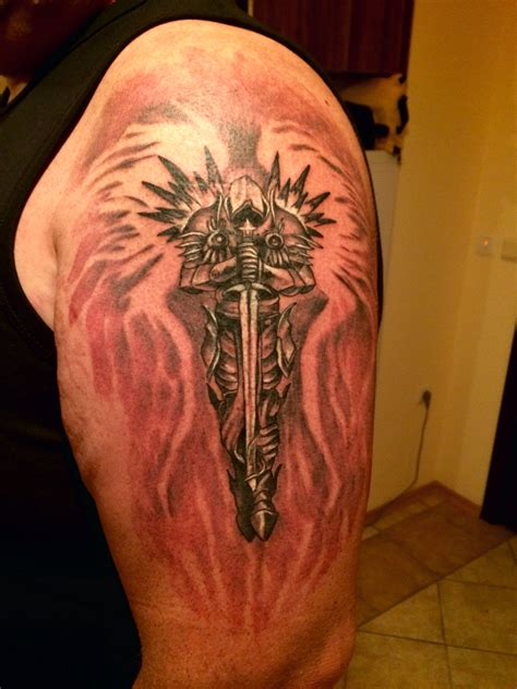 arch angel tattoo tyrael arch of justice tattoos