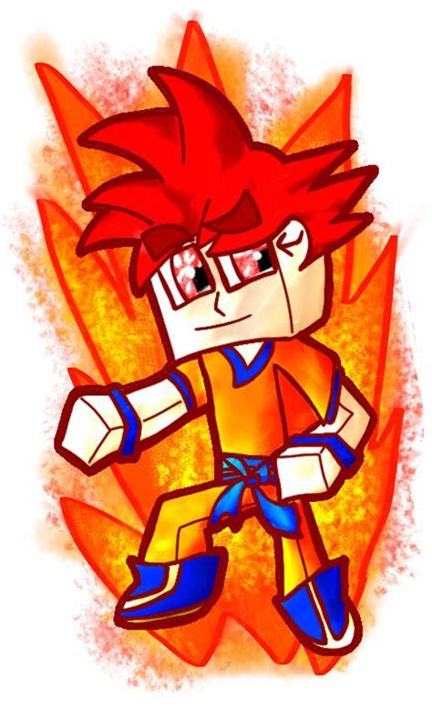 goku wallpaper craft goku god super saiyan minecraft by victorrasen on deviantart