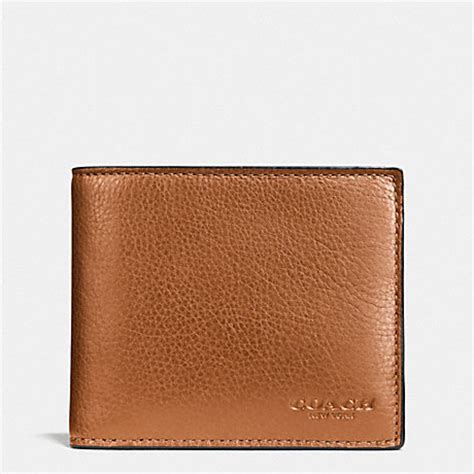 Jual Dompet Coach 74991 Compact Id Sport Calf Saddle Original coach f74991 compact id wallet in sport calf leather saddle coach
