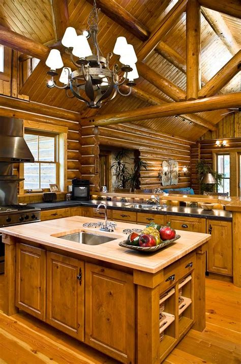 Rustic Cabin Kitchen Cabinets 406 Best Images About Cozy And Quaint Cabins And Log Homes