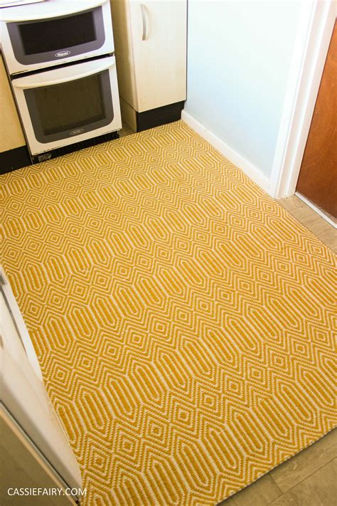 small yellow rug small kitchen makeover chalkboard paint yellow rug tiny room interior design blue walls 8