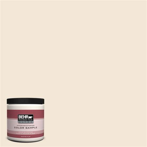 behr premium plus ultra 8 oz 1813 cottage white interior exterior paint sle 1813u the