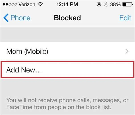 block your phone number iphone how to block any caller s phone number on your iphone in ios 7 even if they re not in