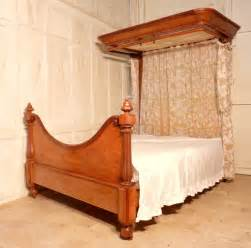 Antique Half Canopy Bed Mahogany Half Tester King Size Be