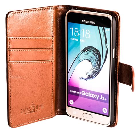 New Original Flipcover Flipcase Flipshell Samsung J3 snakehive leather wallet flip cover for samsung galaxy j3 2016 ebay