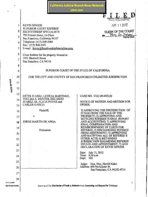 San Francisco Superior Court Records Receivership Specialists Unauthorized Practice Of Kevin Singer Receiver