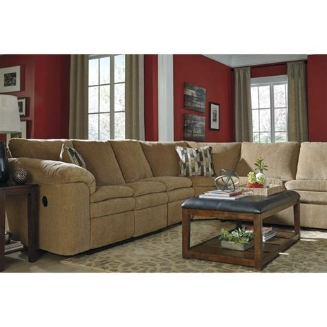 ashley dune sectional ashley coats 3 piece fabric sectional in dune 44100 84