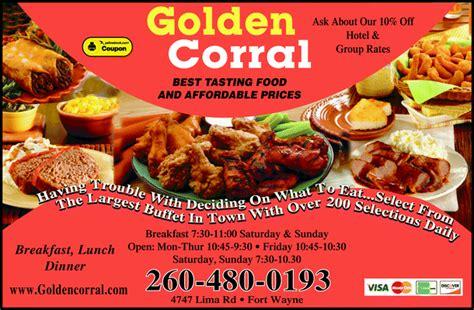 golden corral dinner prices kullee