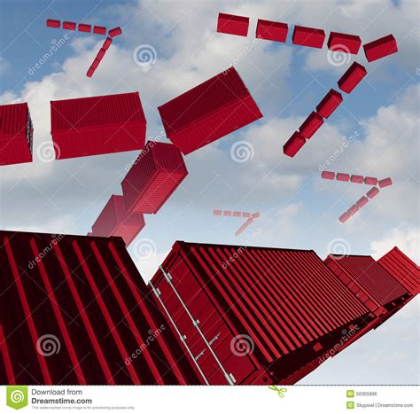 cargo air shipping stock illustration image 50305896