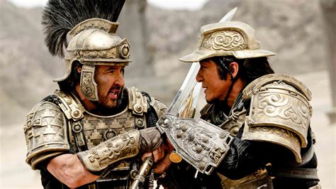 jackie chan john cusack jackie chan s dragon blade scores 55 million to head