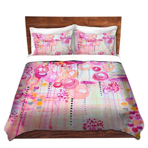 pretty bedding colorful fine art duvet covers bubblegum pop pretty pink