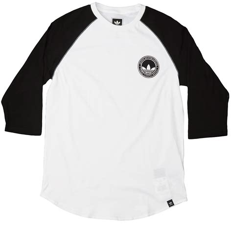 Raglan Adidas 3 adidas pitted 3 4 raglan t shirt white black