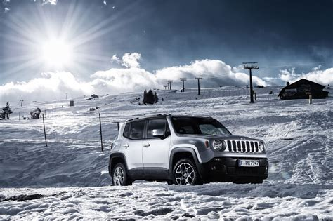 jeep snow automobile magazine tests the jeep renegade in the alps
