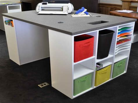 furniture craft table with storage scrapbooking storage
