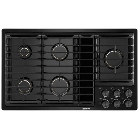downdraft exhaust fan for cooktop jgd3536gb jenn air 36 quot downdraft gas cooktop black on