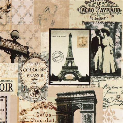 imagenes retro paris tela vintage d par 237 s collage timeless treasures torre