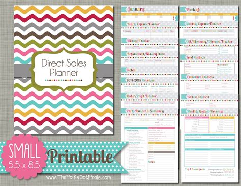 free printable planner direct sales the polka dot posie direct sales planner instructions