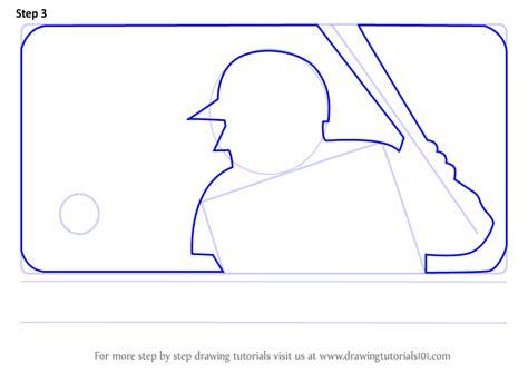 learn   draw mlb logo mlb step  step drawing