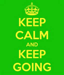 keep calm and keep going thinq education