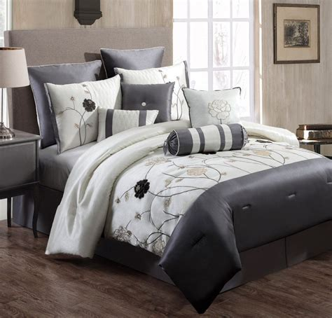 gray white comforter grey and white comforter set 28 images 8 miami gray
