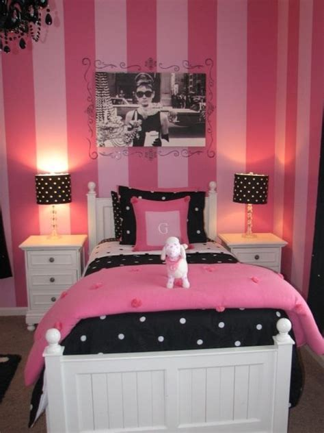 Pink Themed Bedroom - paris themed bedrooms black white amp pink paris themed bedroom inspiration girly