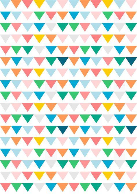 Pattern Paper - free digital bunting scrapbooking paper ausdruckbares