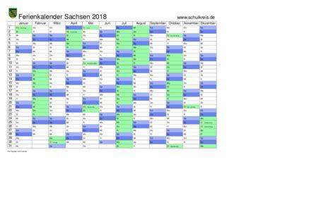 Kalender 2018 Sachsen Schulkreis De Schulferien Kalender Sachsen 2018 Feiertage
