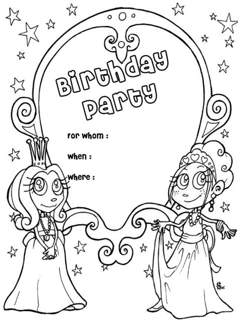 Birthday Card Coloring Pages Coloring Home Card Coloring