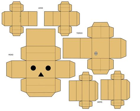 Papercraft Boxes - danbo papercraft by mio mio on deviantart