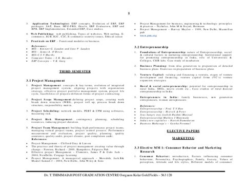 Rtu Mba Syllabus 2015 16 by Mba Mysore Syllabus 2015 16