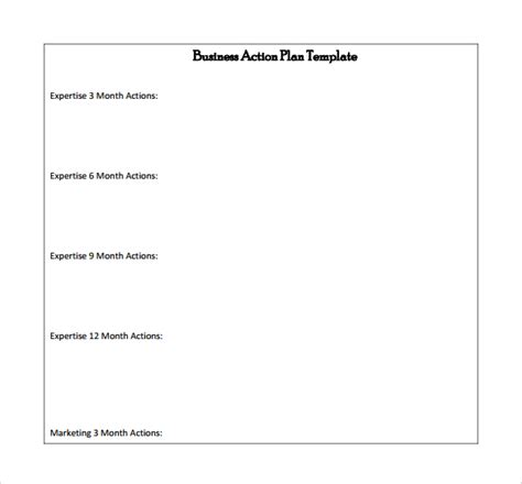 8 Business Action Plan Sles Sle Templates 6 Month Marketing Plan Template