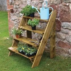 Mobile Home Awnings Wooden Garden Plant Ladder By Grange Internet Gardener
