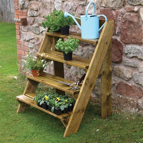 Ladder Shelf For Plants by Wooden Garden Plant Ladder By Grange Gardener