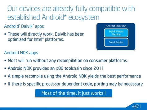 android ia android on ia devices and intel tools