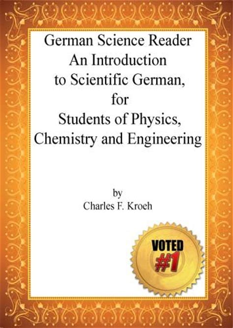 German Science Dictionary german science reader by charles f kroeh link
