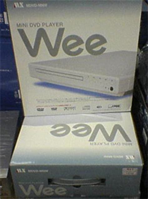 wee console play dvds in your wii and minidvds in your wee